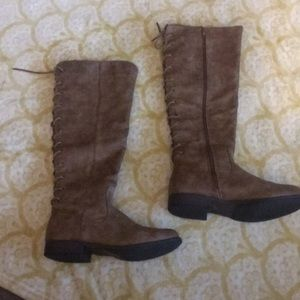 Montana Shoes - Rustic Brown lace up back riding boots!